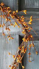"DLCC~24"" Orange/old gold Pip berry Garland Primitive Two feet"