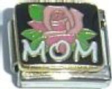 Mom with Flower Italian Charm 9mm fits Classic Starter Bracelets