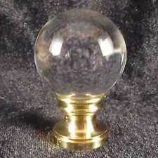 30mm diameter Crystal Ball  LAMP FINIAL for old antique shade or lampshade