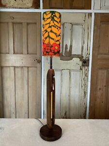 Vintage Retro Wooden Table Lamp