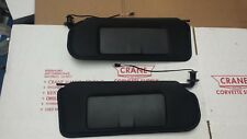 1997-2004 CORVETTE SUN visor VANITY MIRROR C5 NEW BLACK SUNVISORs PAIR  SHADED