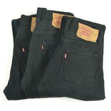 Vaqueros de hombre en color principal negro 100% algodón 38L