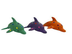 Multipet Pet Envy Waylon the Dolphin Latex Dog Toys Assorted 8.5 in Free Shippin