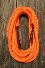 """22' x 9/16"""" ORANGE Yacht Rope Mecate Reins 4 Slobber Straps or Bosal, Hunting"""