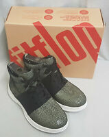 Fitflop Sporty Pop X Lizard Print High Top Sneaker Black Trainer Lace Up Size 4