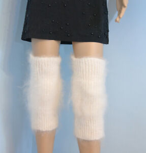 Cashmere Mohair Angora Gaiters Knee Warmer Socks Fur Socken