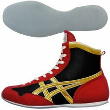 asics Boxing Ring shoes Short type Black Red Gold made in Japan Authentic Bto
