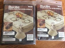 "Vintage Bucilla  ""Madeira Lace""   Tablecloth & Napkins  Stamped Embroidery Kits"