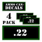 """22 Ammo Can LABELS STICKERS DECALS for Ammunition Case 3""""x1.15"""" 4 pack"""