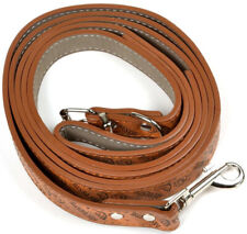 Pet Dog Leather Leash Chrome Belt Buckle Skin Friendly Leather Collar Walk Leash
