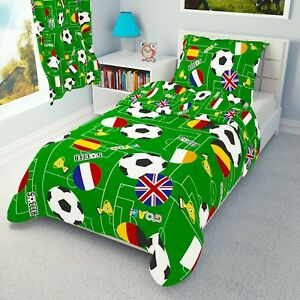 FOOTBALL Boy Bedding Set Duvet Covers for Cot bed/Toddler 90x120 100x135 120x150