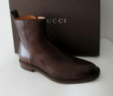NIB GUCCI  BETIS GLAMOUR LEATHER ZIP ANKLE BOOTS 11.5  #298784 $995