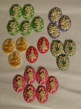Lot 22 Cameo Resin New Christmas Tree Holiday Candy Cane Bells Wreath Flowers