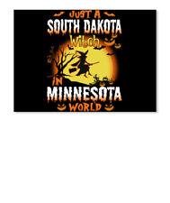 Just A South Dakota Witch In Minnesota World Sticker - Landscape