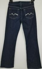 7 Seven For All Mankind Jeans Womens Size 27 X 29 Bootcut Dark Blue Stretch