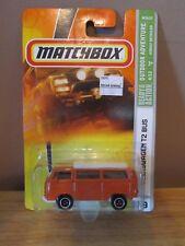 Matchbox Orange Volkswagen T2 Microbus Camper~2007 #79~Brand New on Card!