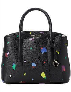Kate Spade Margaux Confetti Pop Mini Satchel in Black Multi Leather BNWT RRP$390