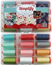 AURIFIL SIMPLIFY COLLECTION FROM CAMILLE ROSKELLEY 12 LARGE 100% COTTON 50 WT