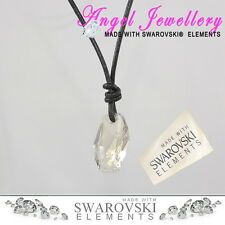 Crystal collana in pelle con swarovski METEOR Ciondolo per l'uomo o per le donne