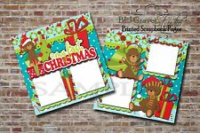 Baby First Christmas Santa 2 PRINTED Premade Scrapbook Pages BLJgraves 71