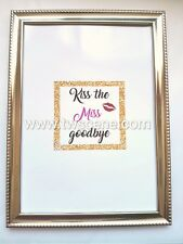Kiss the miss hen party poster