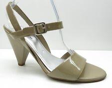 Gianni Bini Tan Patent Leather High Heel Slingback Pumps Sandals Heels 10M 10