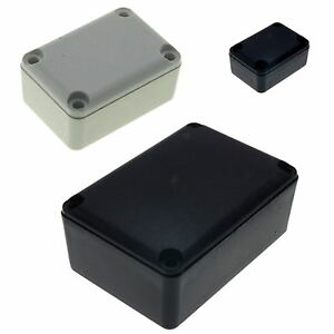 ABS Plastic Box for Electronics Hobby Projects Enclosure Case ALL Sizes UK