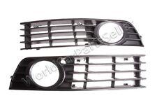 Fog Light Grills PAIR Fits AUDI A4 B6 2001-2004