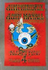 JIMI HENDRIX JOHN MAYALL FILLMORE WINTERLAND 1968 CONCERT POSTER BG105 6TH