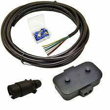 Trailer Light Electrics Rewire Kit Plug, Junction Box, 10m Cable Wire Terminal
