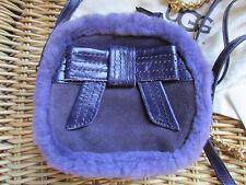 UGG Bag Josette Box Zip Purple Suede Crossbody NEW $155