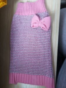 NEW PINK AND SILVER DOG JUMPER, SIZE XS, BY WAG A TUDE.
