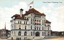 Chattanooga Tennessee~Custom House~Uneeda Biscuit Billboard~1910 Postcard