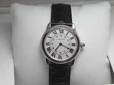 Cartier 740238SX LaRonde Mens Alligator Patent Leather Band Watch