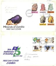 [OP3775] Zambia lot of covers on 12 pages