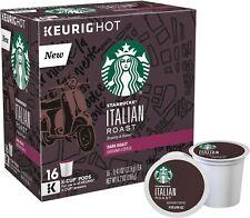 Starbucks Italian Roast Coffee 16 to 96 Count Keurig K cups Pick Any Quantity