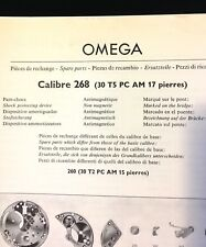 Vintage Omega Spare Parts Guide c. 1959 lists all Omega watch 268 caliber parts