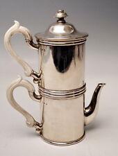 WIENER SILBER KAFFEE MOKKA KANNE J.C.KLINKOSCH SILVER COFFEE PERCOLATOR UM 1880