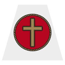 Gold Cross Tetra Chaplain Firefighter Helmet Reflective Decal Sticker