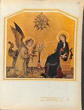 L'Annonciation La vierge par Simone Martini Peintre panneau ILLUSTRATION 1947