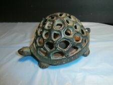 Antique Cast Iron Green Turtle Candle or String ? Holder