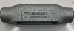 C100M CROUSE HINDS 1-INCH FORM 5 TYPE C MALLEABLE IRON CONDUIT OUTLET BODY