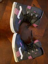 VANS Snowboard Ski Boots Women's Size 7 pink black