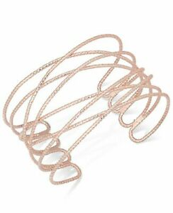 INC International Concepts crisscross rose-gold cuff bracelet