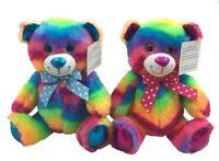 SNUGGLE PALZ RAINBOW PLUSH BEAR BLUE BOW OR RED BOW 25CM BNWT