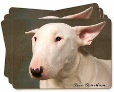 White Bull Terrier 'Love You Mum' Picture Placemats in Gift Box, AD-BUT1lymP
