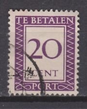 Port 42 used gestempeld Suriname portzegel 1950 ALL DUE STAMPS PER PIECE