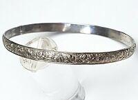 Jugendstil Silber Armreif 800 punziert umlaufend Rosendekor  6,5 cm Durchm. A666