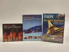 Lot of 3: Rick Steves' Europe Travel DVD Sets-