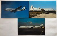3 EASTERN AIRLINES Jet Vintage Postcard Lot DC8 Concave 440-86 Airbus A300B4